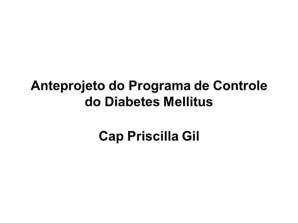 Anteprojeto do Programa de Controle do Diabetes Mellitus Cap Priscilla Gil
