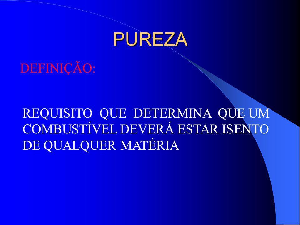 PERDA DE ESTABILIDADE DE ARMAZENAMENTO CARACTERÍSTICAS: ODOR DESAGRADÁVEL; PERDA DA COR CARACTERÍSTICA; FORMAÇÃO DE GOMAS OU SEDIMENTOS; ALTERAÇÃO DO ÍNDICE ANTIDETONANTE; ALTERAÇÃO DA VOLATILIDADE; ALTERAÇÃO DO POTENCIAL DE ENERGIA CALORÍFICA.