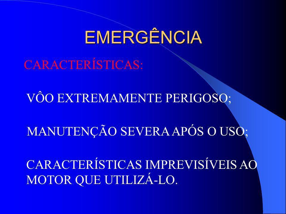 ALTERNADO CARACTERÍSTICAS: PERDA DE EFICIÊNCIA; REDUÇÃO DE AUTONOMIA; AUMENTO DE CONSUMO; AUMENTO DE MANUTENÇÃO; REDUÇÃO DE VELOCIDADE.
