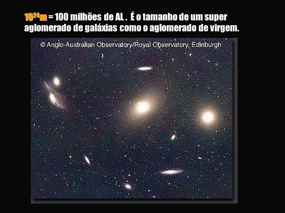 10 24 m = 100 milhões de AL.