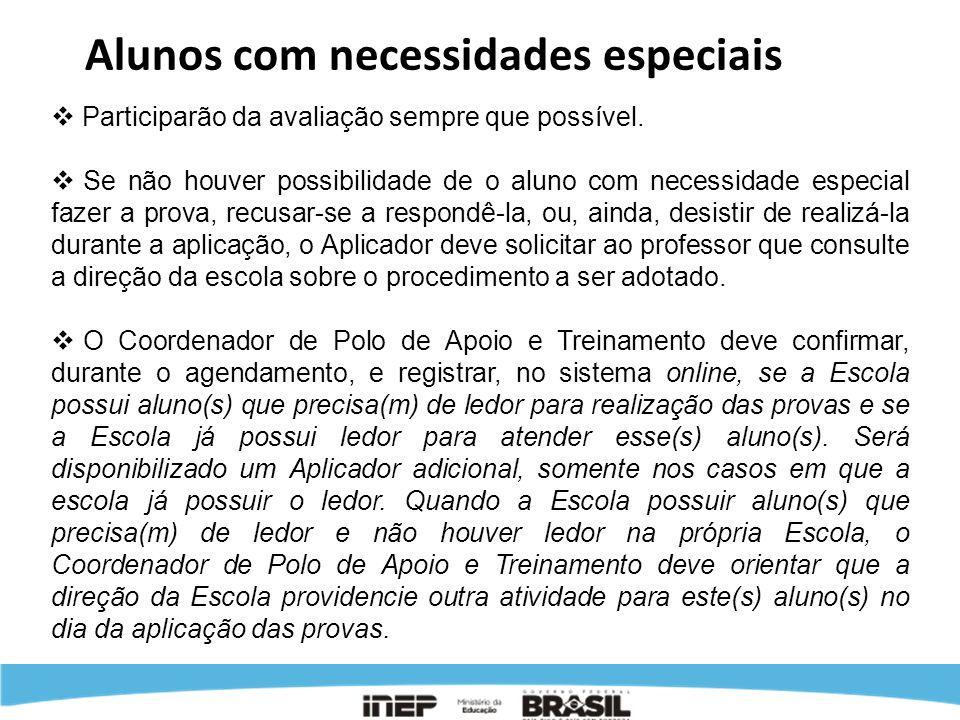 No treinamento dos coordeandores, o coordenador de Polo de Apoio e Treinamento deverá aplicar uma avaliação.