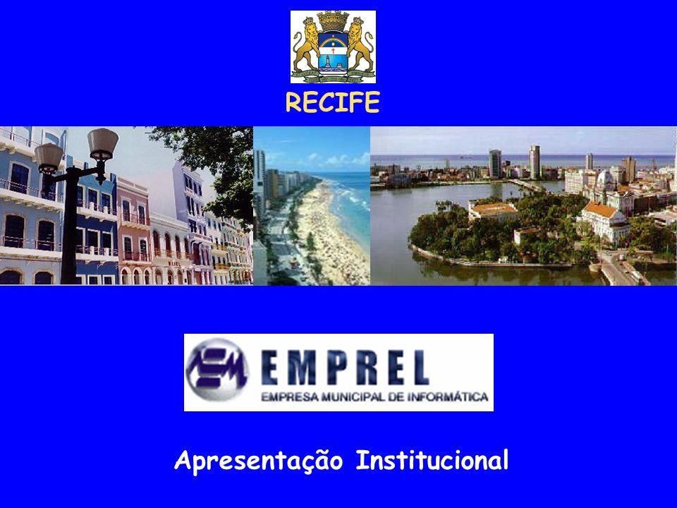 A CIDADE Recife - Aspectos gerais Recife, capital do Estado de Pernambuco, situá-se no litoral nordestino e ocupa uma posição central, a 800 km das outras duas metrópoles regionais, Salvador e Fortaleza.
