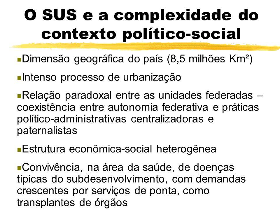 O presente e a relevância do SUS Mais de 90 % da população brasileira é, de algum modo, usuária do SUS; 28,6 % da população é usuária exclusiva do SUS
