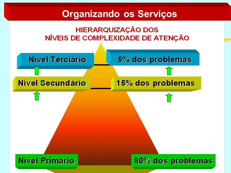 regionalizada e hierarquizada níveis de complexidade A rede do SUS deve ser regionalizada e hierarquizada, permitindo conhecimento dos problemas de sa