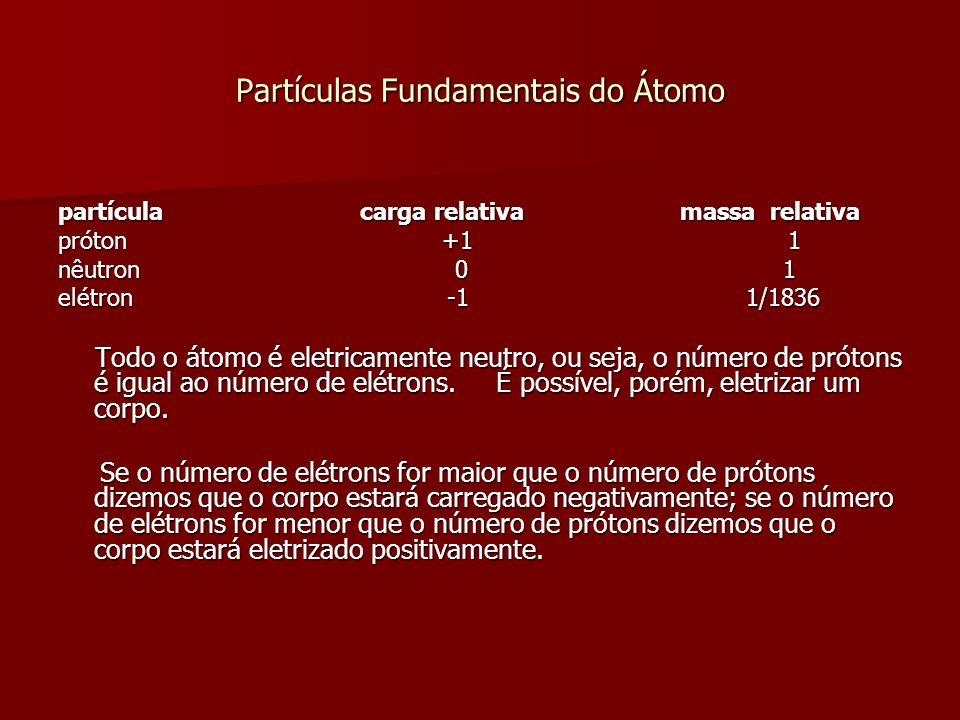 Uma característica importante do núcleo é que ele determina o tipo químico do elemento que representa, por causa do número de prótons que contém.