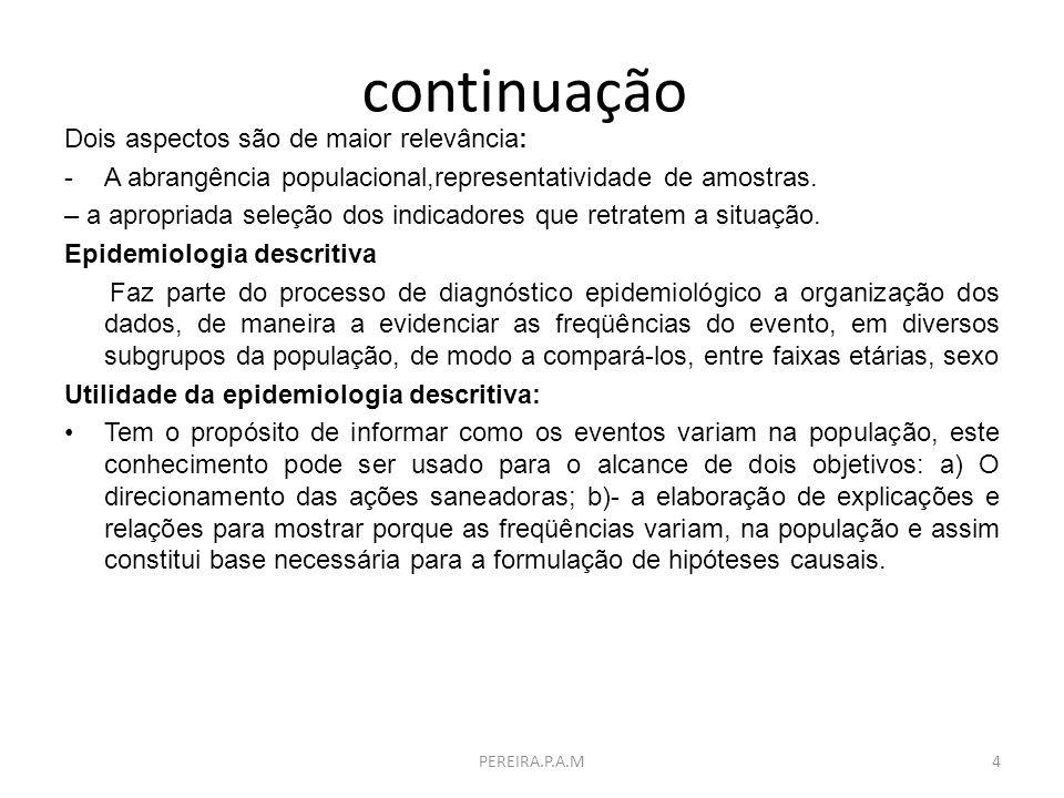 continuação Direcionamento de ações saneadoras:A distribuição dos casos aponta para as camadas da população em que o dano é mais freqüente.O resultado é indicativo das necessidades de ação.
