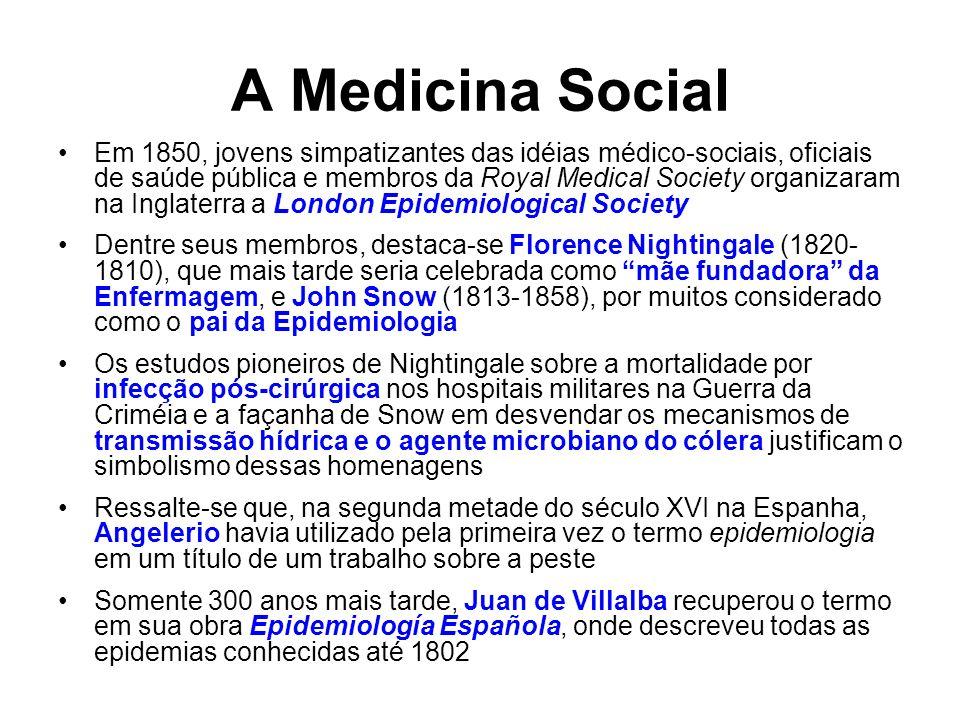 A Medicina Social Em 1850, jovens simpatizantes das idéias médico-sociais, oficiais de saúde pública e membros da Royal Medical Society organizaram na