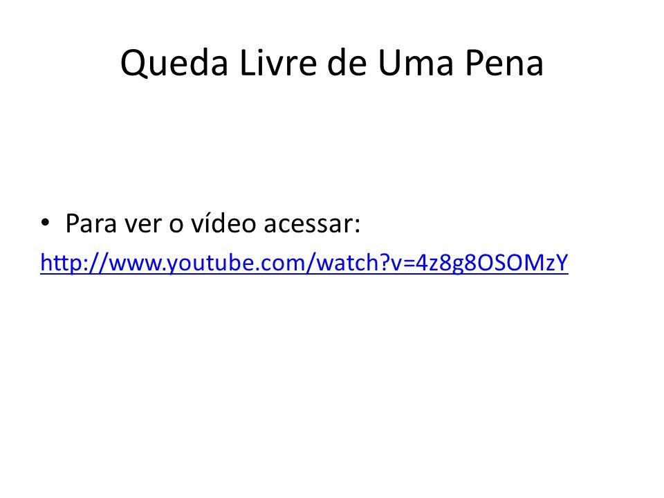 Queda Livre de Uma Pena Para ver o vídeo acessar: http://www.youtube.com/watch?v=4z8g8OSOMzY