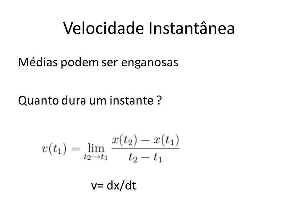 Gráficos de Velocidade em Função do Tempo – Aceleração e Deslocamento Δx = deslocamento entre 2s e 6s = área marcada = - 14 m a = cte.= (- 6 - 0) / (6 -1) a = - 1,2 m/s 2