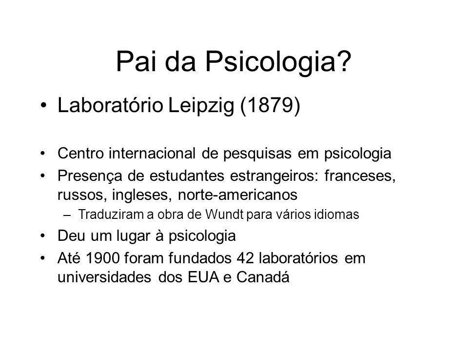 Pai da Psicologia.