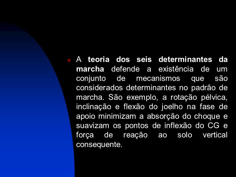 A teoria dos seis determinantes da marcha defende a existência de um conjunto de mecanismos que são considerados determinantes no padrão de marcha. Sã
