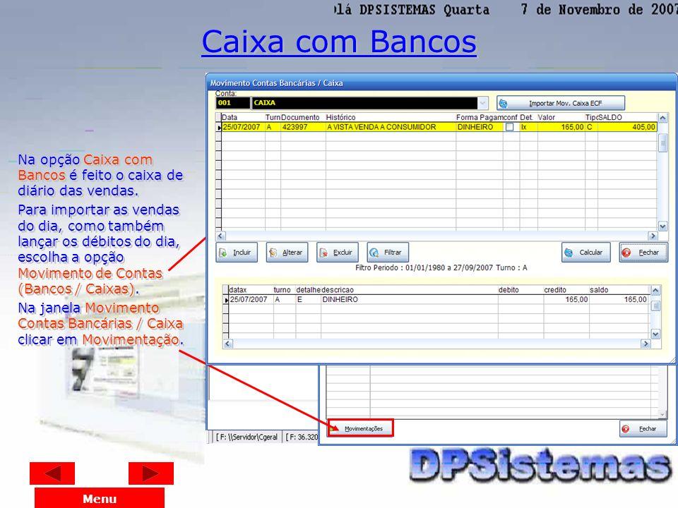 Nesta tela, pode verificar os Produtos Cadastrados no Estoque. Menu Consulta de Produtos do Estoque