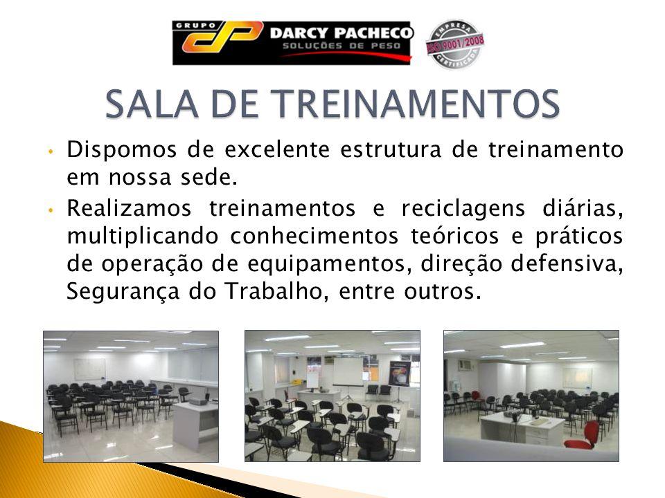 Dispomos de excelente estrutura de treinamento em nossa sede. Realizamos treinamentos e reciclagens diárias, multiplicando conhecimentos teóricos e pr