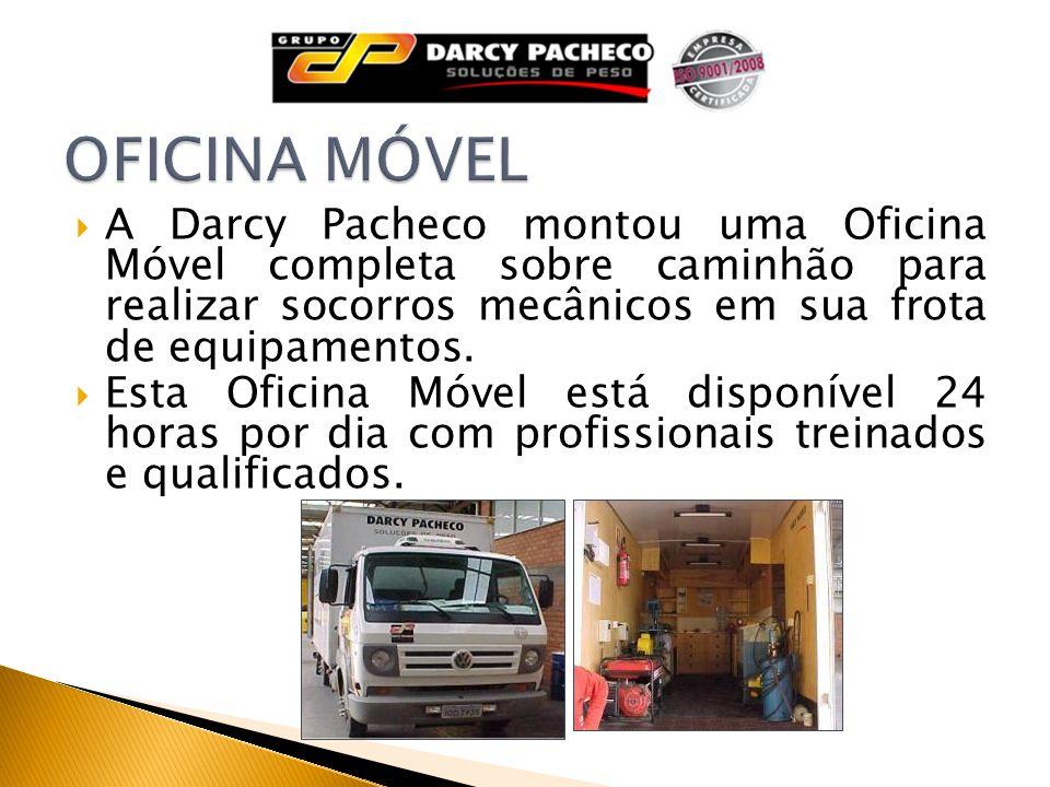 A Darcy Pacheco montou uma Oficina Móvel completa sobre caminhão para realizar socorros mecânicos em sua frota de equipamentos. Esta Oficina Móvel est