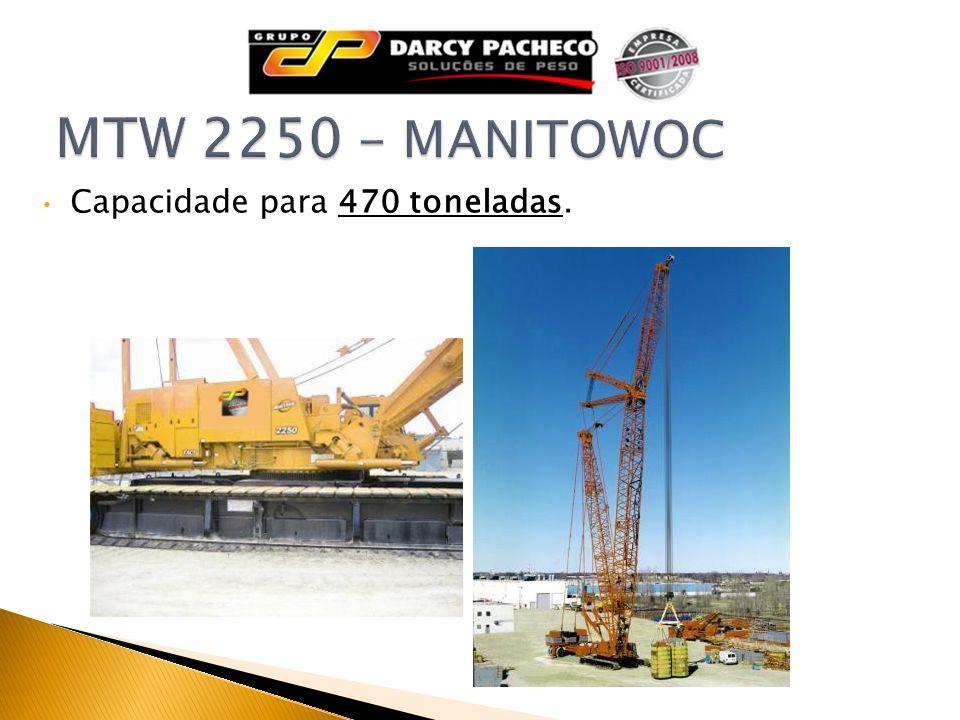 Capacidade para 470 toneladas.