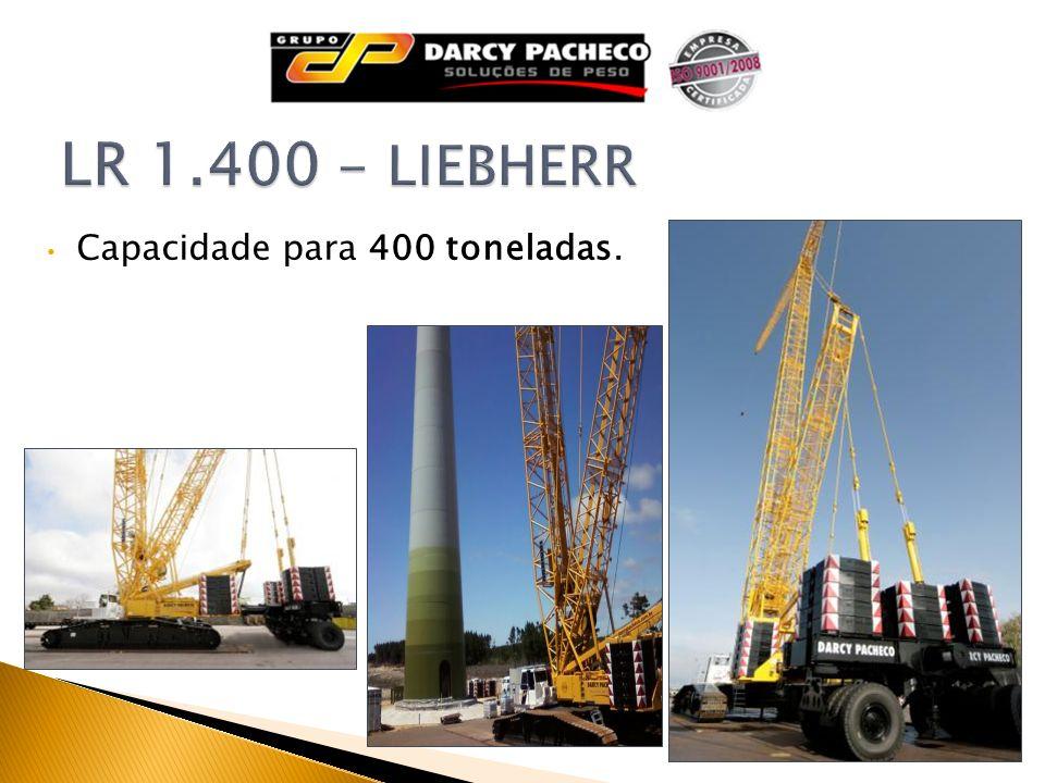 Capacidade para 400 toneladas.