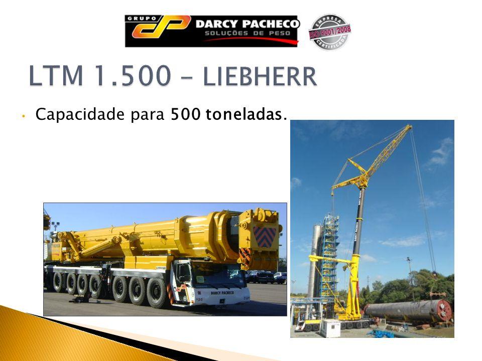 Capacidade para 500 toneladas.