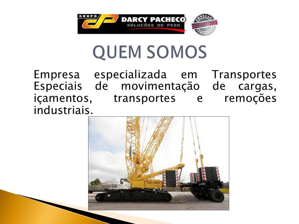 Empresa especializada em Transportes Especiais de movimentação de cargas, içamentos, transportes e remoções industriais.