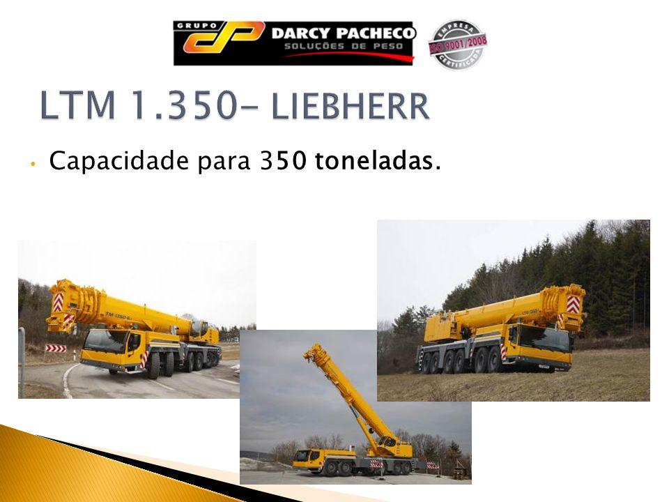Capacidade para 350 toneladas.