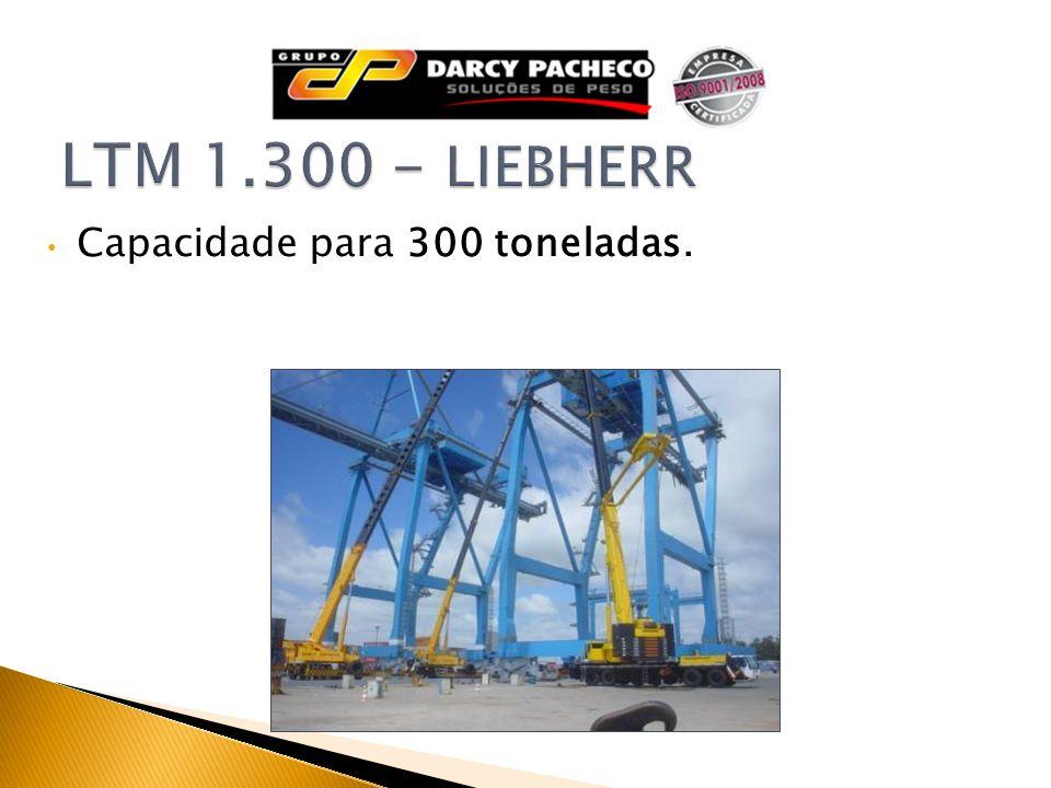 Capacidade para 300 toneladas.