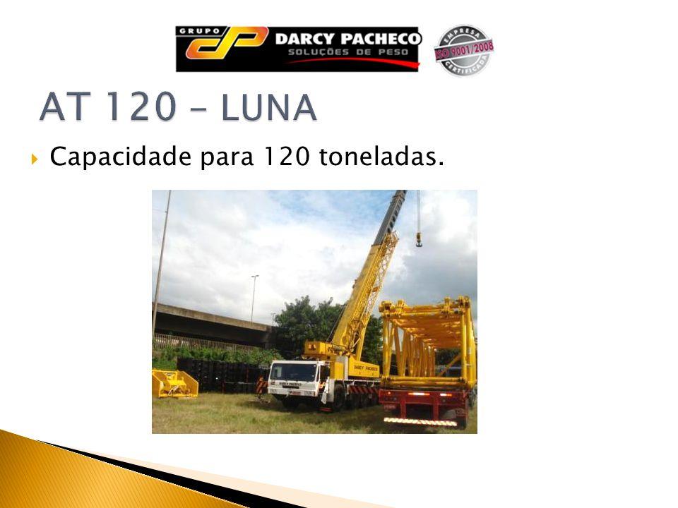 Capacidade para 120 toneladas.