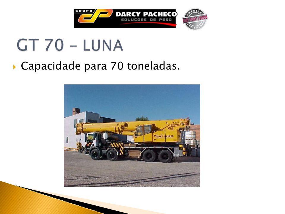 Capacidade para 70 toneladas.