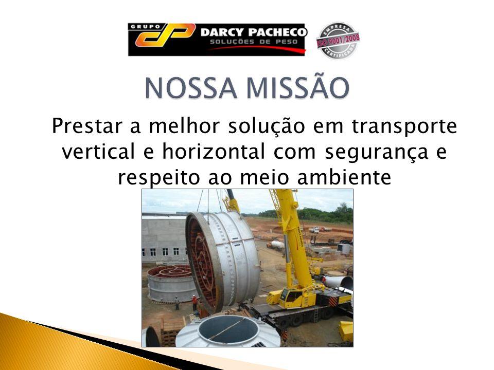 Prestar a melhor solução em transporte vertical e horizontal com segurança e respeito ao meio ambiente