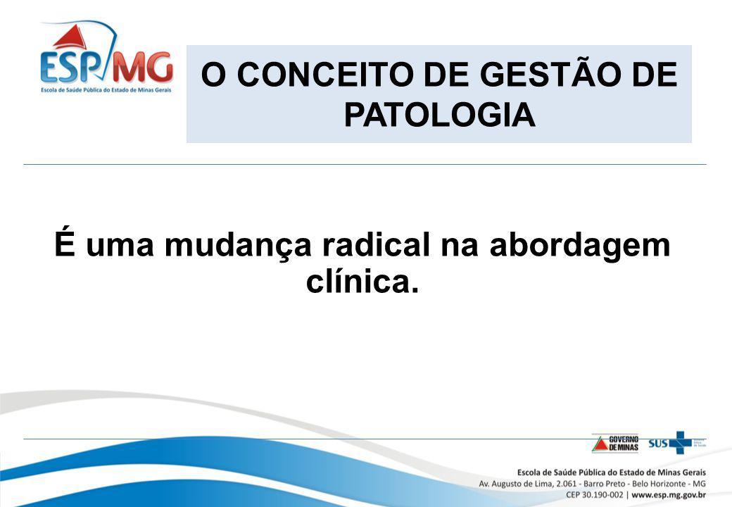 O CONCEITO DE GESTÃO DE PATOLOGIA É uma mudança radical na abordagem clínica.