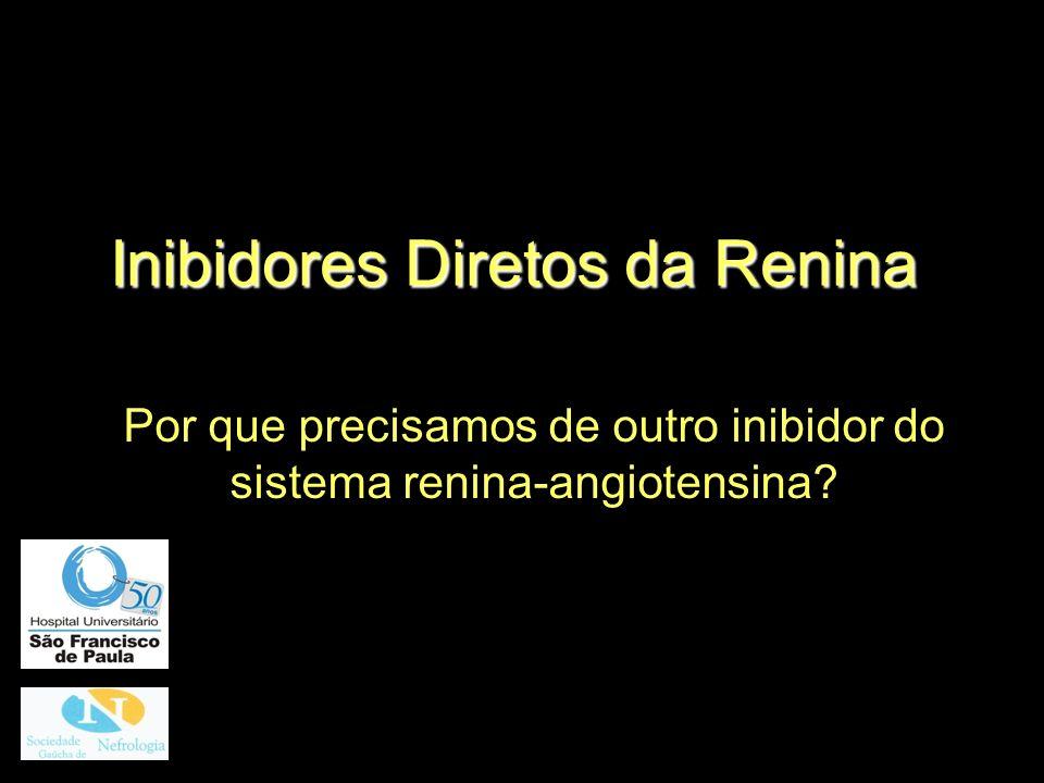 Potenciais Limitações do Alisquireno Em monoterapia não é mais efetivo que IECA ou BRA (PA 10/7mmHg) Dose máxima 300mg: diarréia (98% da droga não é absorvida no intestino).