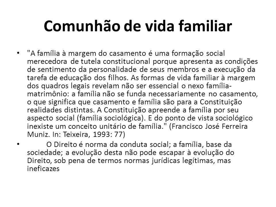 Comunhão de vida familiar