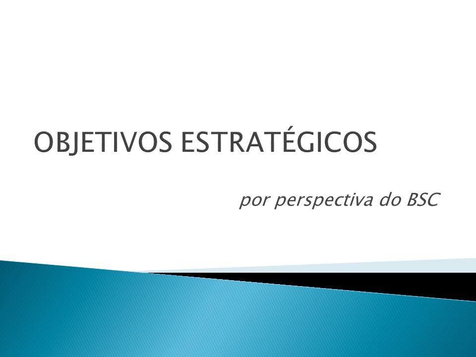 OBJETIVOS ESTRATÉGICOS por perspectiva do BSC