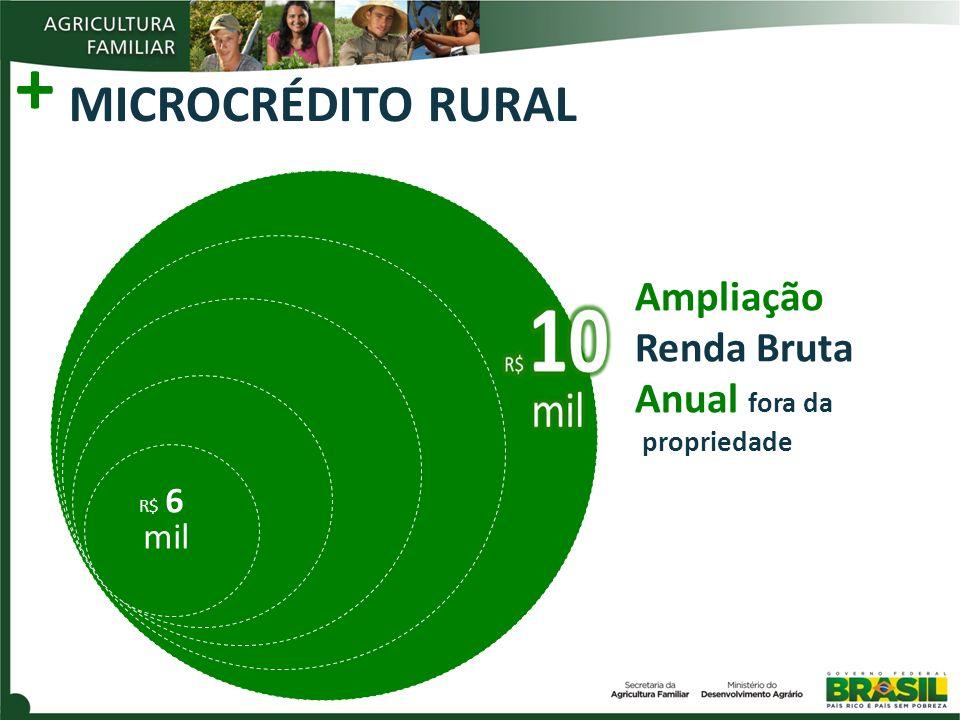 + MICROCRÉDITO RURAL R$ 6 mil Ampliação Renda Bruta Anual fora da propriedade