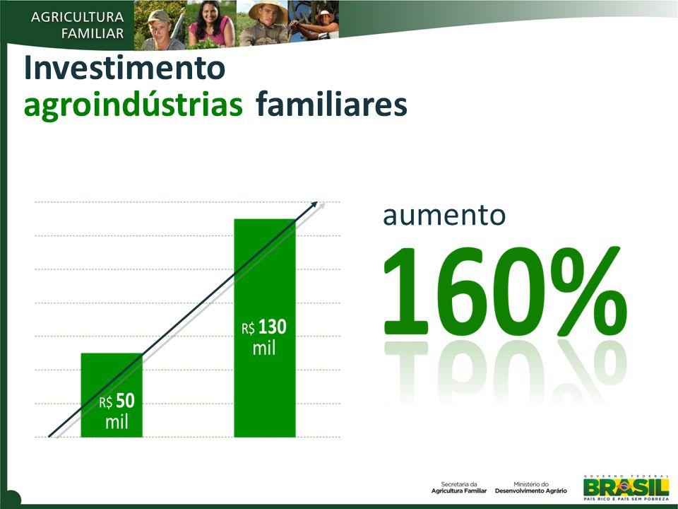Investimento agroindústrias familiares aumento