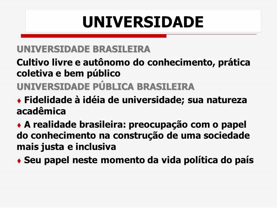 UNIVERSIDADE UNIVERSIDADE BRASILEIRA Cultivo livre e autônomo do conhecimento, prática coletiva e bem público UNIVERSIDADE PÚBLICA BRASILEIRA t Fideli