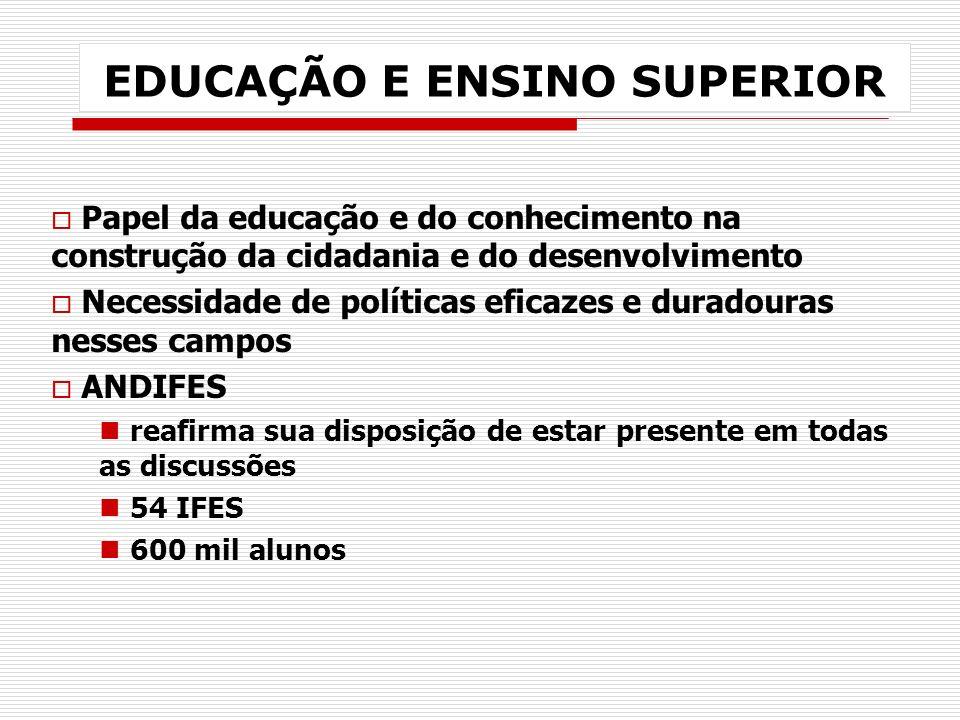 PROPOSIÇÕES PARA AS IFES 1.AUTONOMIA 2.FINANCIAMENTO 3.POLÍTICA DE RECURSOS HUMANOS