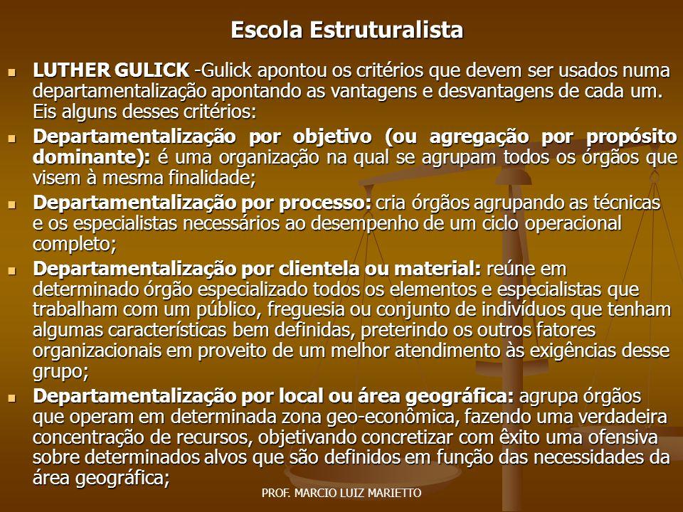PROF.MARCIO LUIZ MARIETTO Escola Estruturalista RALPH C.