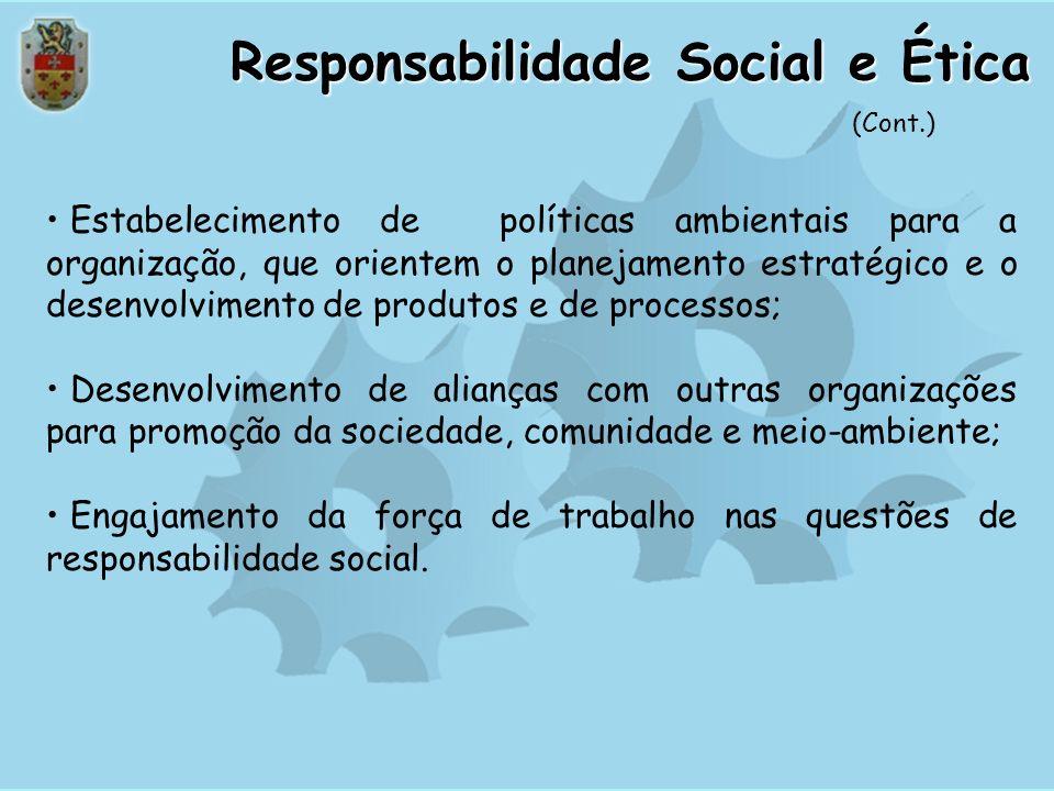 Políticas para relacionamento com a comunidade; Definição clara de parâmetros éticos para condução de suas atividades junto às partes interessadas; Li