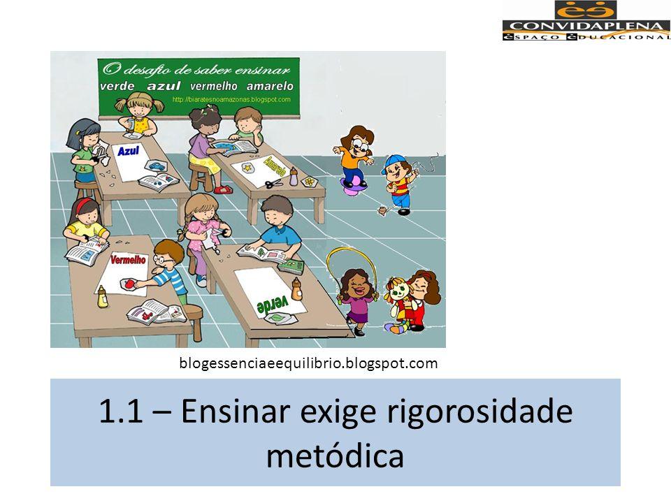 Uma de suas tarefas primordiais é trabalhar com os educandos a rigorosidade metódica com que devem se aproximar dos abjetos cognoscíveis.
