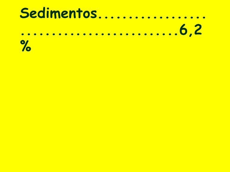 Sedimentos............................................6,2 %