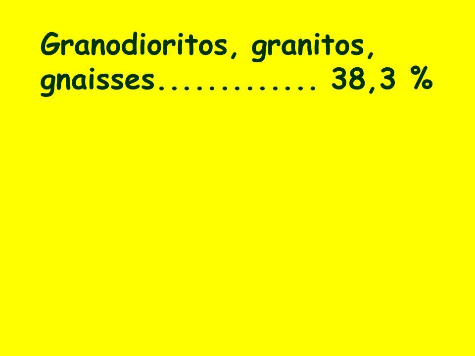 Granodioritos, granitos, gnaisses............. 38,3 %