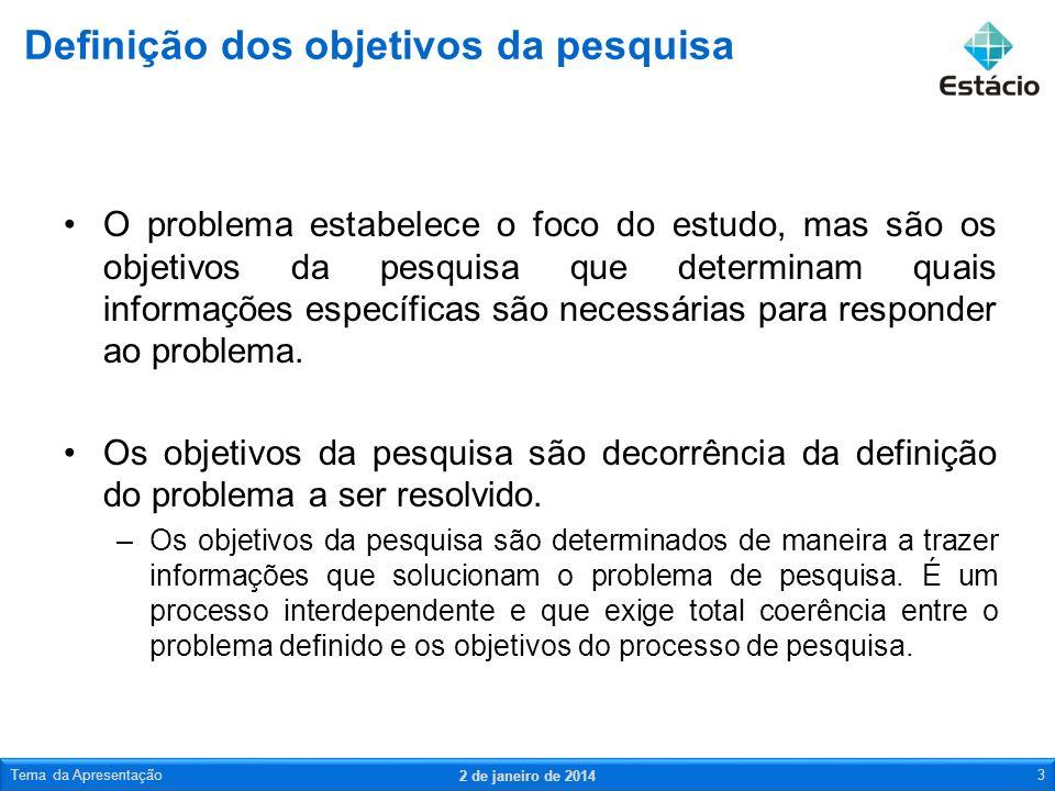 No briefing também não deve faltar respostas às seguintes perguntas: –Quais são os principais objetivos da pesquisa.