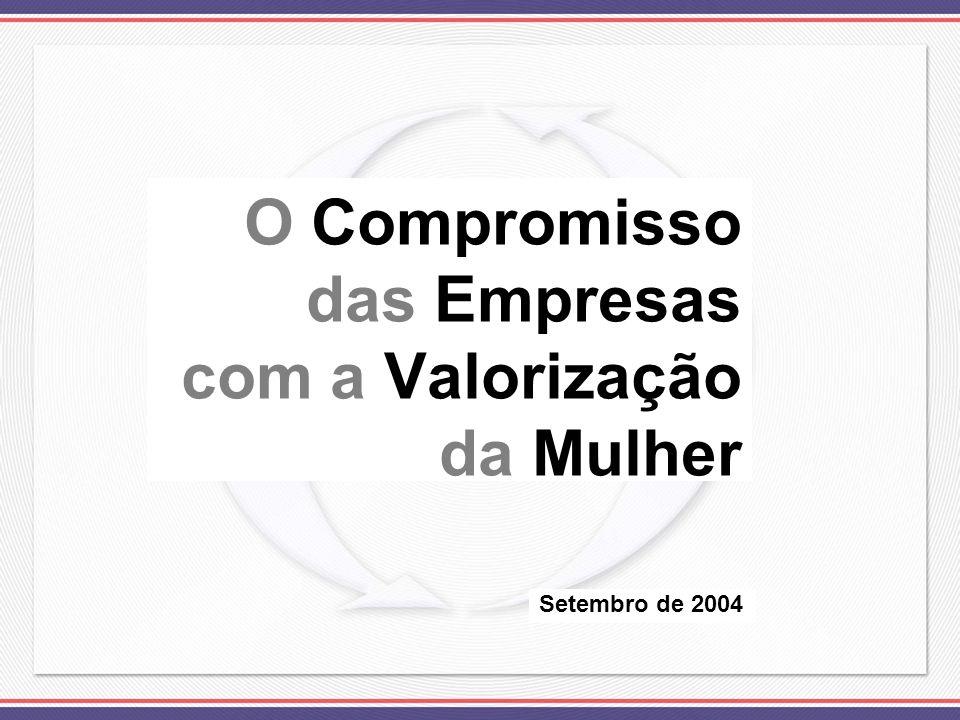 O Compromisso das Empresas com a Valorização da Mulher Setembro de 2004