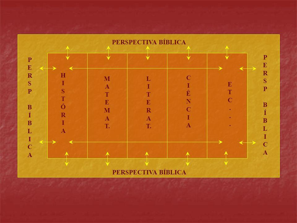 PERSP BÍBLICAPERSP BÍBLICA PERSP BÍBLICAPERSP BÍBLICA PERSPECTIVA BÍBLICA M A T E M A T. HISTÓRIAHISTÓRIA L I T E R A T. CIÊNCIACIÊNCIA ETC...ETC...