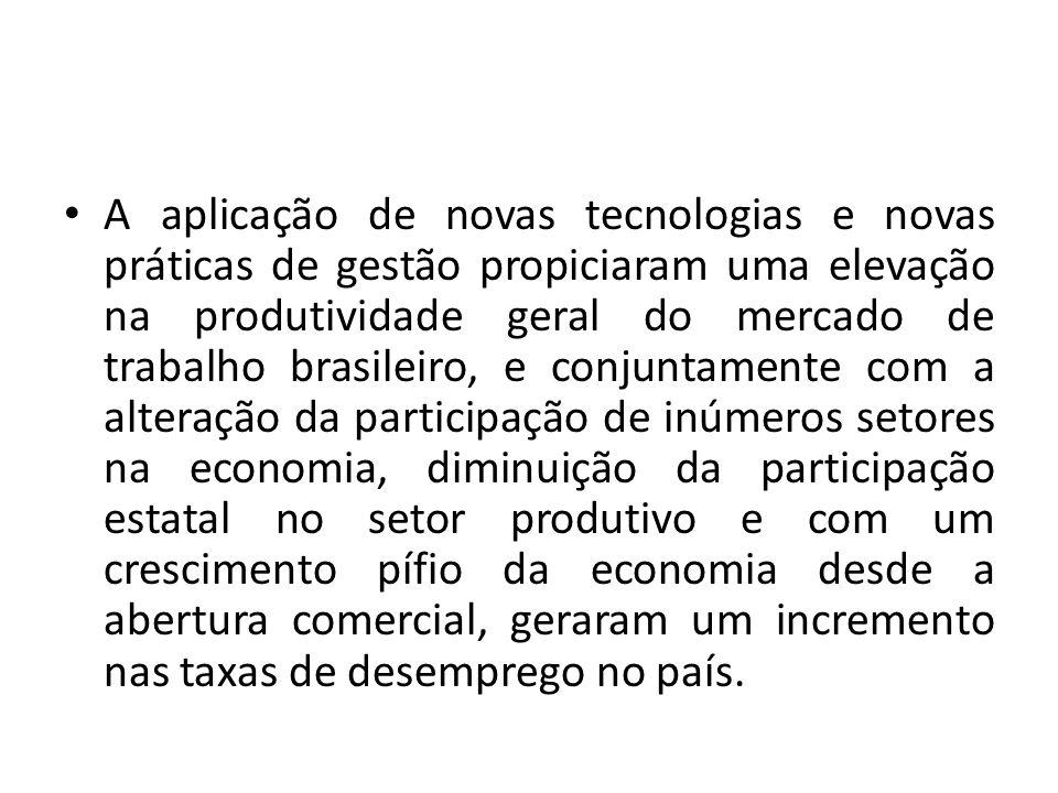 A aplicação de novas tecnologias e novas práticas de gestão propiciaram uma elevação na produtividade geral do mercado de trabalho brasileiro, e conju