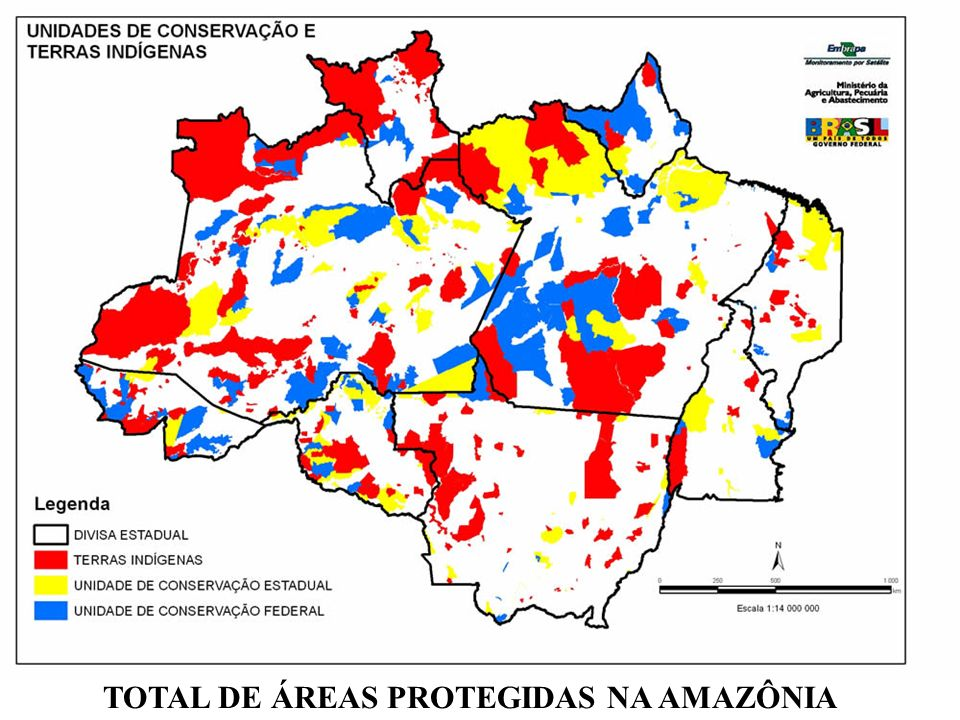 TOTAL DE ÁREAS PROTEGIDAS NA AMAZÔNIA