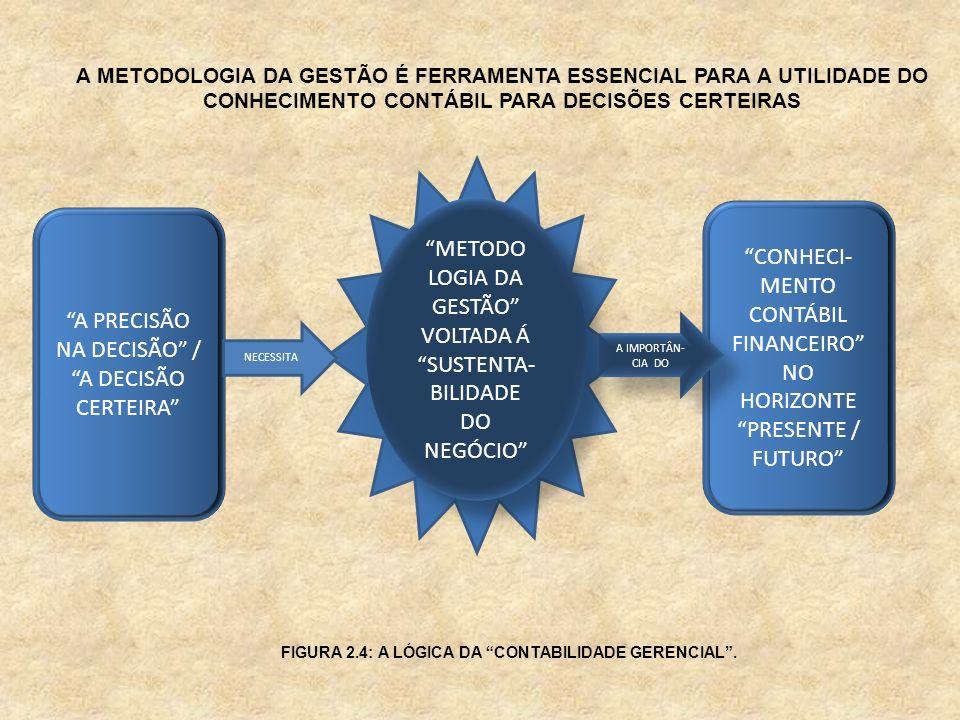 A PRECISÃO NA DECISÃO / A DECISÃO CERTEIRA CONHECI- MENTO CONTÁBIL FINANCEIRO NO HORIZONTE PRESENTE / FUTURO A METODOLOGIA DA GESTÃO É FERRAMENTA ESSE
