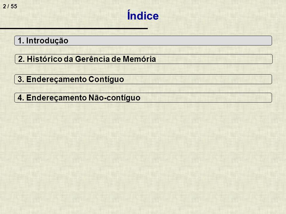 23 / 55 Fragmentação internaFragmentação externa Fragmentação de Memória