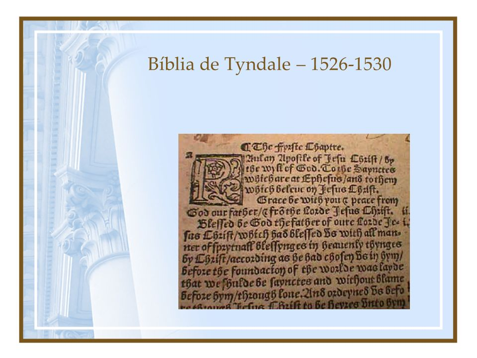 Bíblia de Tyndale – 1526-1530