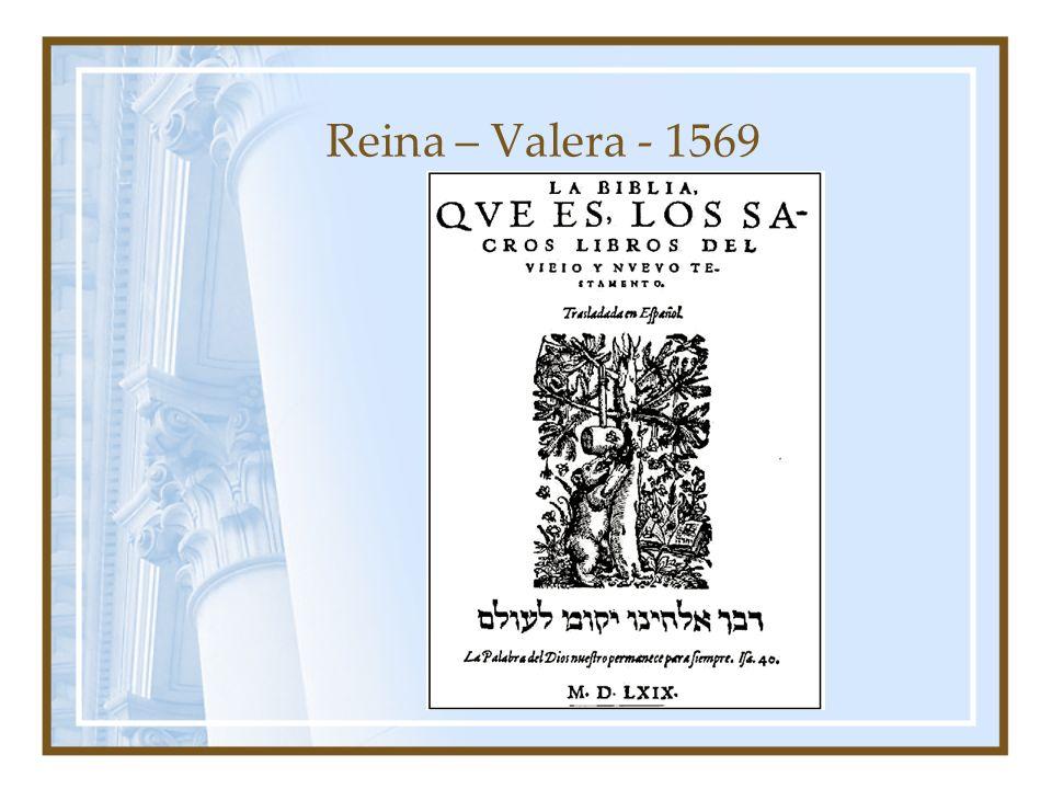 Reina – Valera - 1569