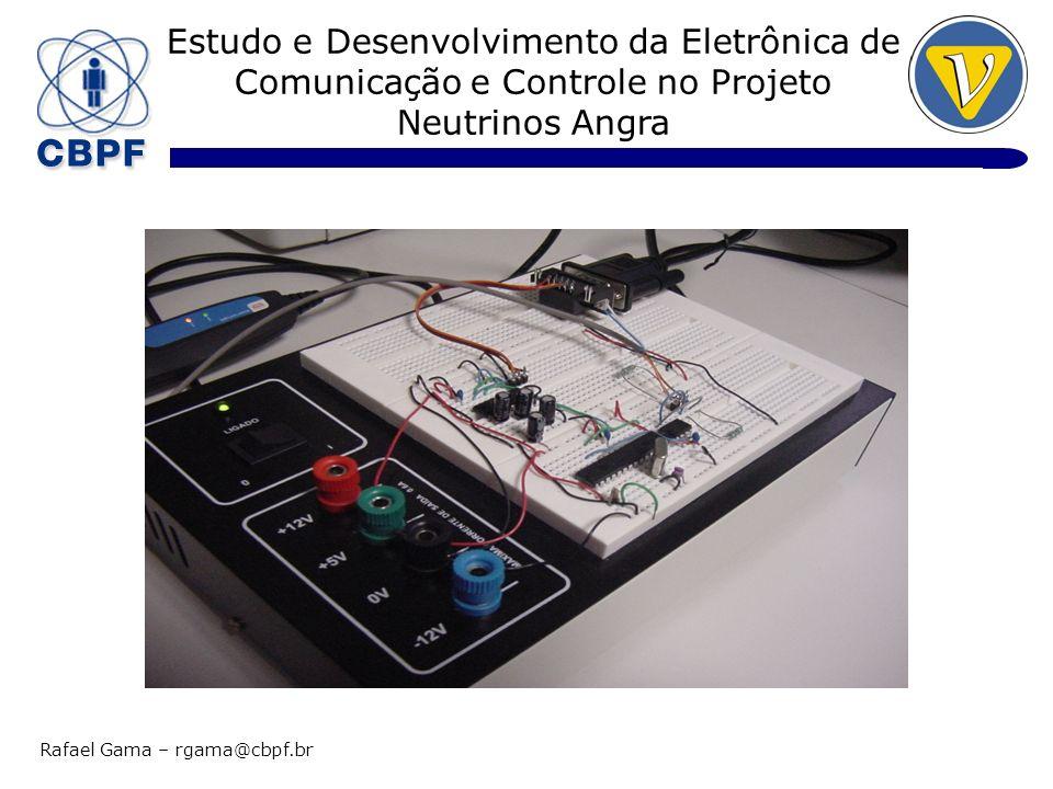 Estudo e Desenvolvimento da Eletrônica de Comunicação e Controle no Projeto Neutrinos Angra Rafael Gama – rgama@cbpf.br Node 1: Interface CAN do Protótipo 1)CAN Transceiver 2)MCU 3)RS232 Transceiver
